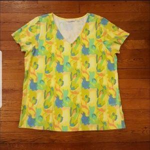 Isaac Mizrahi V-neck blouse